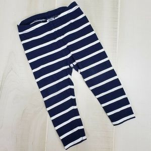 Janie and Jack Striped Leggings Baby Girl 6-12 M